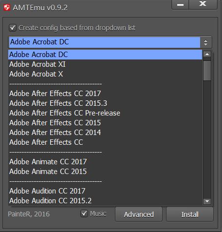Amtemu.v0.9.2-painter怎么使用?2020年Adobe全功能激活软件工具破解!插图